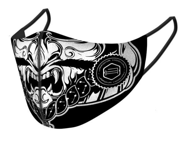 Japona Hookah Mask Black&White Samurai XL