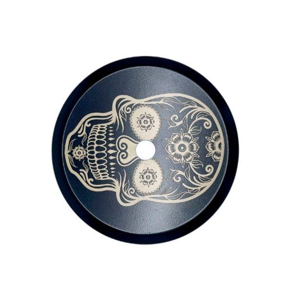 Skull hookah plate