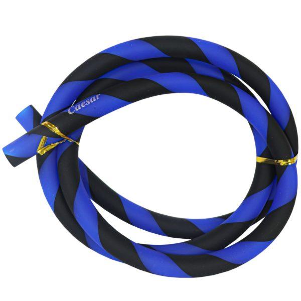Silicone hose - Matt Striped - Blue / Black