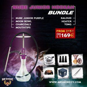 Nube Junior Purple Hookah Bundle
